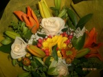 The welcome flowers
